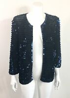 Diane von Furstenberg DVF AXELLE Dressy Cocktail Sequin Sweater Jacket size S