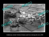 OLD LARGE HISTORIC PHOTO CULLYBACKEY NORTHERN IRELAND TOWN AERIAL VIEW c1930 1