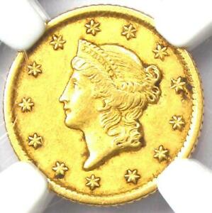 1853-O Liberty Gold Dollar Coin G$1 - Certified NGC AU55 - Rare New Orleans Coin