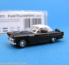 Busch h0 45211 FORD THUNDERBIRD CABRIO NERO OVP USA ho 1:87 SCALE BOX