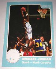 Michael Jordan 1985 Star North Carolina Rookie Error Logo Basketball Card No 10