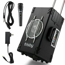 Frisby FS-4300 Bluetooth Karaoke PA System w/ Remote Control, Wired Microphone