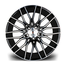 "20"" Stuttgart ST8 Alloy Wheels Black MF 5x112 fits Audi A4 