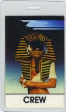 ZZ TOP 1985 TOUR LAMINATED BACKSTAGE PASS Crew