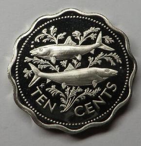 Bahamas 10 Cents 1975FM (P) Copper-Nickel KM#61 Proof