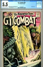G.I. Combat #90 CGC GRADED 5.5 - grey tone cover - 4th app of the Haunted Tank