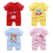 New Baby Newborn Girls Boys Short Sleeve Romper Animal Bodysuit Jumpsuit Clothes