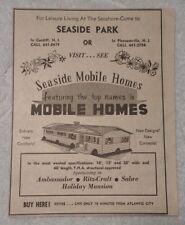 1964 Seaside Park - Seaside Mobile Homes Pleasantville New Jersey Advertisement