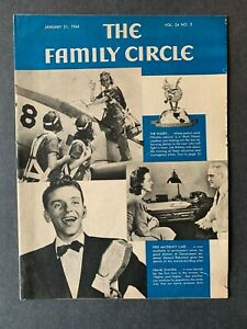 Family Circle Magazine January 21, 1944 1940's Lifestyle Cooking Recipes Ads