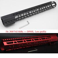 15'' Black/Red/Tan LR-308 Keymod Clamping Handguard Rail Heavy Duty Mount System