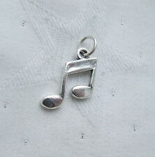 MUSIC NOTE DOUBLE QUAVER CHARM 925 STERLING SILVER