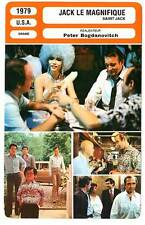 FICHE CINEMA : JACK LE MAGNIFIQUE - Gazzara,Elliott,Bogdanovich 1979 Saint Jack