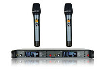 Dual Wireless Microphone UHF Wireless Radio mic LCD Display 19 Inch Rack
