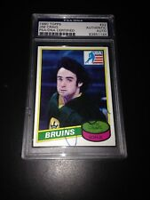 Jim Craig Signed 1980-81 Topps Rookie Card Miracle On Ice PSA Slabbed #83851144