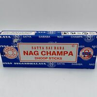 SATYA INCENSE NAG CHAMPA DHOOP STICKS BOX OF 10 NEW FREE SHIPPING