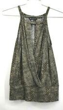 INC Womens Snake Print Sleeveless V Neck Blouse Crew Neck Stretch Size Small