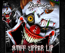 YAMAHA RAPTOR 660 (ALL YEARS) WRAP DECAL GRAPHIC SET KIT 'STIFF UPPER LIP' GRAY