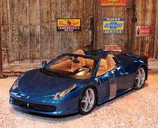 Ferrari 458 Spider 1:24 Scale Die-cast Model Car Bburago Race & Play