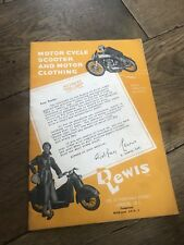 VINTAGE Lewis Leathers Aviakit Catalogue 1966 Jackets Helmets Badges Boots Etc