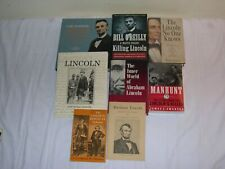 LOT OF 8 NON-FICTION BOOKS ON THE LIFE AND DEATH OF ABRAHAM LINCOLN ~CIVIL WAR