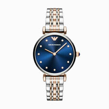 Emporio Armani Women's Quartz Stainless-Steel Blue Dial Crystal AR11092 Watch
