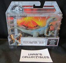 "Jurassic World velociraptor Blue 6"" long posable attack pack action fig Mattel"