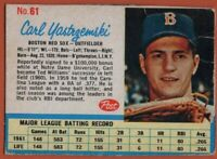 1962 Post #61 Scarce Carl Yastrzemski VG Crease Boston Red Sox FREE SHIPPING