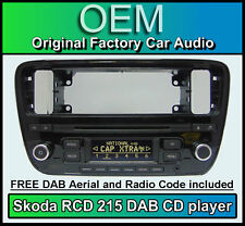 Skoda Citigo DAB car stereo, Skoda RCD 215 DAB digital radio CD player with code