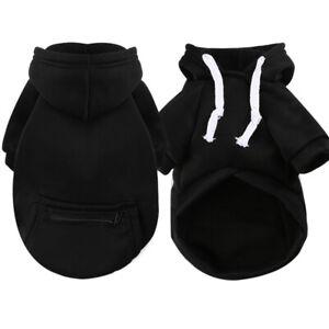 Pet Dog Hoodie Jacket Sweater Clothes Zipper Pocket Puppy Cat Coat Outfit XS-5XL