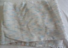 New Lady's Ivory Textured Scarf with Pale Blue/Pink Stripe Design