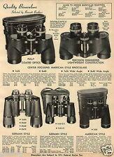 1965 PAPER AD Binoculars Japan Rifle Scope Realist Bushnell Bausch Lomb Balvar