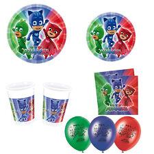 Kit Party Super Pigiamini Pj Masks Compleanno Festa Eroi Tavola Piatti Bicchieri