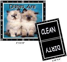 CAT DISHWASHER MAGNET (Himalayan Kittens) - (Clean/Dirty) Ship FREE!