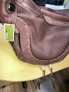 orYANY Chelsea Hobo Bag Brown/ Purple  Large NEW with Tags Leather Also Bag