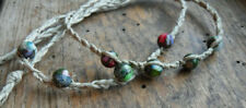 Made in USA Anklet Bracelet Sea Sediment Jasper Hemp Traveler Unisex mens Womens