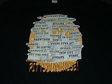 PITTSBURGH, PA PITTSBURGHESE BLACK SHORT SLEEVED T-SHIRT 3X-LARGE NEW