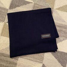 NEW JOHN SMEDLEY Midnight Blue Merino Wool Long Unisex Scarf RRP £90 Mod