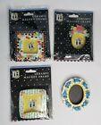 Mary Engelbreit Magnet Mini Frame x4 Ceramic Stripes Flowers Dots Cherry Vtg '99