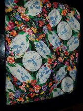 Cosmetic, Makeup Bag, 7 inch floral quilted