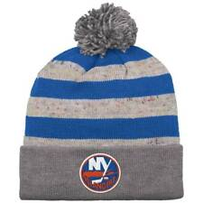 New York Islanders Mitchell & Ness NHL Speckled Oatmeal Beanie Hat Cap OSFA Knit