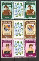 Nevis SC # 150-152 Diana Princess Of Wales 21St Birthday. Pairs , 4. MNH
