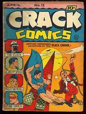 Crack Comics #12 Nice Unrestored Golden Age Superhero Quality 1941 GD+