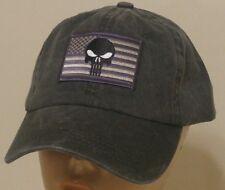 Punisher Flag Ball Cap U.S.A. Flag Hat Skull