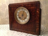 "Antique Art Deco HAC STRIKING MANTLE Clock Winds Works and Chimes Correctly 9""H"