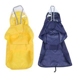 Pet Dog Coat Clothes Puppy Jacket Hooded Waterproof Outdoor Raincoat