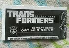 Transformers GENERATIONS COMBAT HERO OPTIMUS PRIME INSTRUCTION BOOKLET ONLY