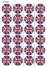 24x PRECUT Regno Unito Bandiera Calcio Commestibili Carta, cupcake, DECORAZIONI PER TORTA 1235