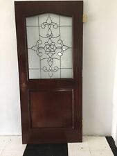 Solid Cherry Exterior/ Interior Door Beveled Glass Gorgeous
