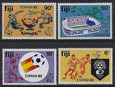 1982 FIJI FOOTBALL WORLD CUP SPAIN '82 SET OF 4 FINE MINT MNH/MUH