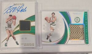 2018-19 Panini Immaculate Kevin Mchale Sole Of The Game + Patch Auto 3/25 Celtic